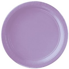 Farfurii uni Hydrangea Lilac 23 cm pentru petreceri, Amscan 55015-59, Set 8 buc