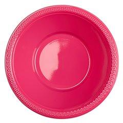 Boluri plastic Magenta 355ml pentru petreceri, Amscan 552286-61, Set 10 buc