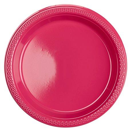 Farfurii plastic magenta 18 cm pentru petreceri, Amscan RM552284-61, Set 10 buc