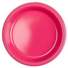 Farfurii plastic Magenta 23 cm pentru petreceri, Amscan 552285-61, Set 10 buc