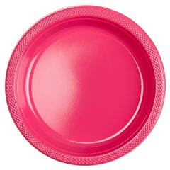 Magenta Plastic Plates 23 cm, Amscan RM552285-61, Pack of 10 pieces