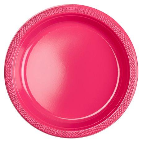 Farfurii plastic Magenta 23 cm pentru petreceri, Amscan RM552285-61, Set 10 buc