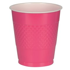 Magenta Plastic Cups 355ml, Amscan RM552287-61, Pack of 10 pieces
