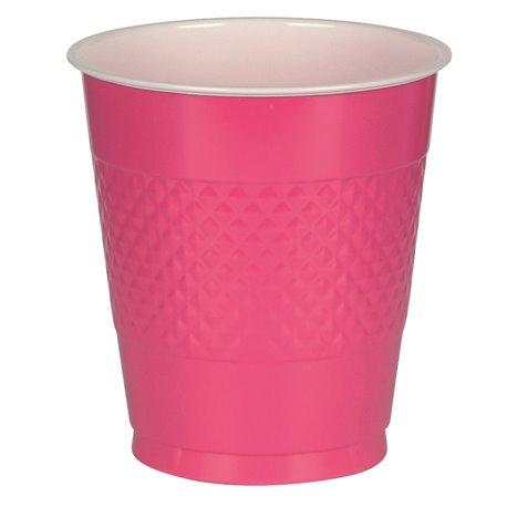 Pahare plastic Magenta 355ml pentru petrecere, Amscan RM552287-61, Set 10 buc