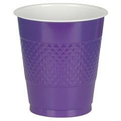 Purple Plastic Cups 355ml, Amscan RM552287-25, Pack of 10 pieces