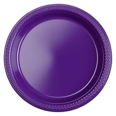 Purple Plastic Plates 18 cm, Amscan RM552284-25, Pack of 10 pieces