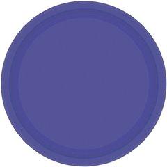 Farfurii uni Purple 23 cm pentru petreceri, Amscan 55015-25, Set 8 buc