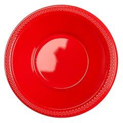 Boluri plastic Apple Red 355ml pentru petreceri, Amscan 552286-40, Set 10 buc