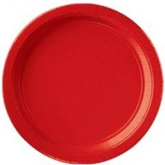Farfurii Apple Red 18 cm pentru petreceri, Amscan 54015-40 , Set 8 buc