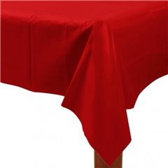 Apple Red Plastic Table cover - 137 x 274 cm, Amscan 77015-40, 1 piece