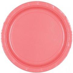 Farfurii Pretty Pink 18 cm pentru petreceri, Amscan 54015-06 , Set 8 buc