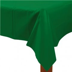 Fata de masa din plastic pentru petreceri - Festive Green, 137cm x 274 cm, Amscan 77015-03, 1 buc