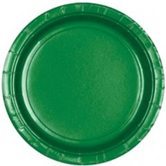 Festive Green Paper Plate 23 cm, Amscan 55015-03, Pack of 8 pieces