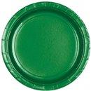 Farfurii uni Festive Green 23 cm pentru petreceri, Amscan 55015-03, Set 8 buc