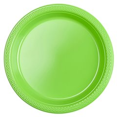 Set 10 farfurii plastic 17,7 cm verde-kiwi green, 552284.53