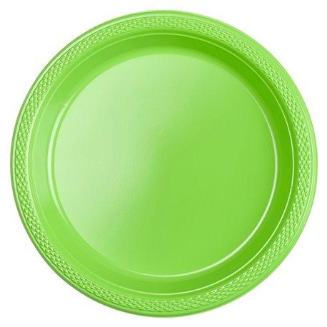 Farfurii plastic Kiwi Green 18 cm pentru petreceri, Amscan RM552284-53, Set 10 buc