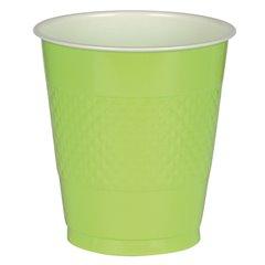 Pahare plastic Kiwi Green 355ml pentru petrecere, Amscan 552287-53, Set 10 buc