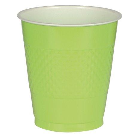 Pahare plastic Kiwi Green 355ml pentru petrecere, Amscan RM552287-53, Set 10 buc