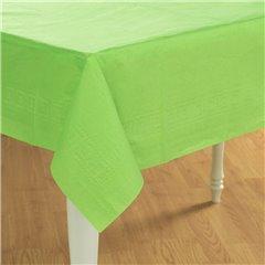 Fata de masa din plastic pentru petreceri - Kiwi Green, 137cm x 274 cm, Amscan 77015-53, 1 buc