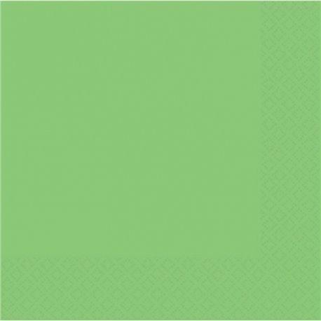 Servetele de masa uni Kiwi Green pentru petreceri - 33 cm, Amscan 51015-53, Set 20 buc
