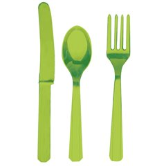 Tacamuri Kiwi Green din plastic pentru petrecere, Amscan 4546-53, Set 24 buc