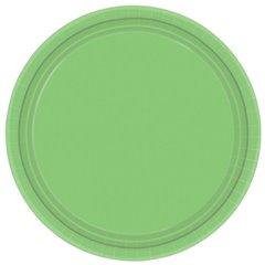 Farfurii Kiwi Green 18 cm pentru petreceri, Amscan 54015-53 , Set 8 buc