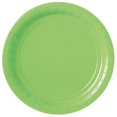 Farfurii uni Kiwi Green 23 cm pentru petreceri, Amscan 55015-53, Set 8 buc
