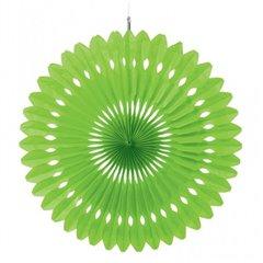 Decoratiune tip evantai din hartie - 40 cm, Kiwi Green, Asmcan 290460.53, 1 buc