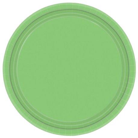 Farfurii carton Kiwi Green 18 cm pentru petreceri, Amscan 64015-53, Set 20 buc