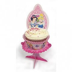 Princess Sparkle Individual Cup Cake Stands, Amscan 996488, Pack of 4 pieces