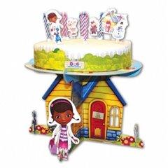 Suport tort cu Doc McStuffins pentru petreceri copii, 25 x 13cm, Amscan 996908, 1 buc