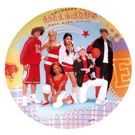 Farfurii petrecere copii 23 cm High School Musical, Amscan RM551381, Set 8 buc