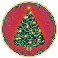 Warmth of Christmas Paper Plates 23 cm, Amscan 65981, Pack of 8 Pieces