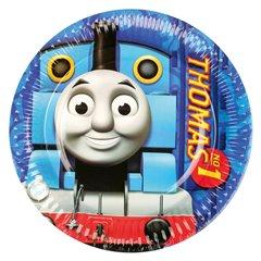 Farfurii petrecere copii 18 cm Thomas & Friends, Amscan RM552157, Set 8 buc