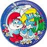 Farfurii petrecere copii 23 cm cu Strumfi, Amscan RM552175, Set 8 buc
