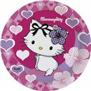 Charmmy Kitty Paper Plates 23 cm, Amscan RM552184, Pack of 8 Pieces