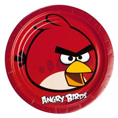 Farfurii petrecere copii 23 cm Angry Birds, Amscan RM552360, Set 8 buc