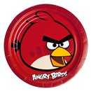 Angry Birds Round Plates 23cm, Amscan RM552360, Pack of 8 Pieces