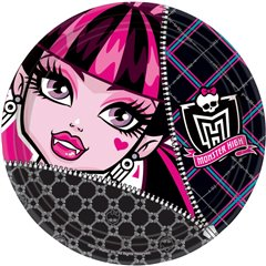 Monster High Paper Plates 23 cm, Amscan RM552245, Pack of 8 Pieces