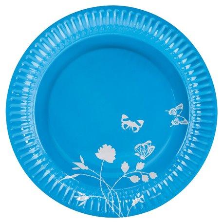Farfurii albastre pentru petrecere 23 cm, Amscan RM551906, Set 8 buc