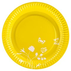 Farfurii galbene pentru petrecere 23 cm, Amscan RM551905, Set 8 buc