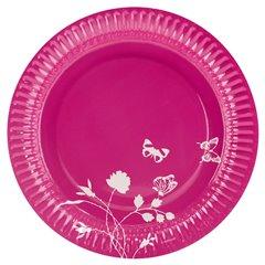 Farfurii roz pentru petrecere 23 cm, Amscan 551909, Set 8 buc