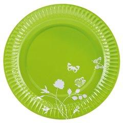 Farfurii verzi pentru petrecere 23 cm, Amscan RM551907, Set 8 buc