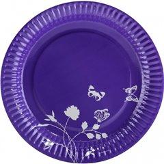 Purple Paper Plates 23 cm, Amscan RM551908, Pack of 8 Pieces