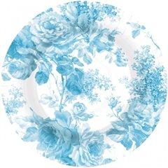 Farfurii carton petrecere 23 cm cu floricele albastre, Amscan 559891-54, Set 8 buc