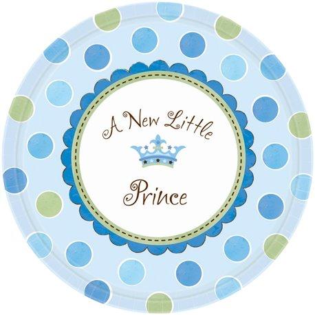 Farfurii petrecere copii 27 cm Little Prince, Amscan 599458, Set 8 buc