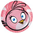 Angry Birds Pink Bird Paper Plates 18 cm, Amscan RM552543, Pack of 8 Pieces