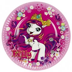 Filly Fairy Paper Plates 23 cm, Amscan RM552475, Pack of 8 Pieces