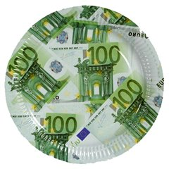 Euro Note Paper Plates 23 cm, OOTB 33/0085, Pack of 10 Pieces