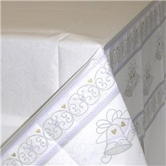 Dazzling Bells Paper Table Cover, 137 x 259 cm, Amscan 579639, 1 piece